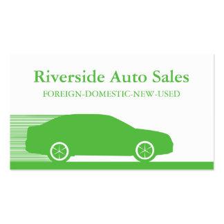 Carte de visite rapide d'automobile, vert de Kelly