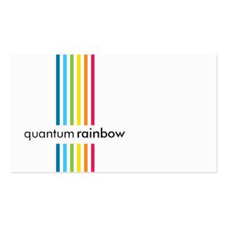 CARTE DE VISITE : : rayure rainbowed 1