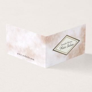 Carte De Visite Regard de marbre bronzage de crème élégante