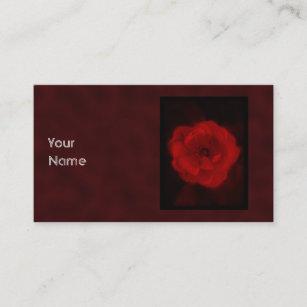 Carte De Visite Rose Rouge Avec Noir Et Fonc