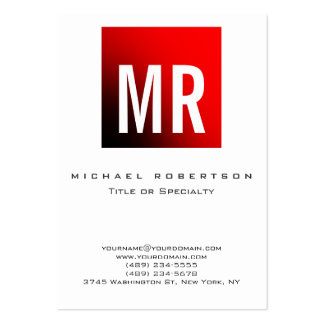 Carte de visite rouge blanc de monogramme
