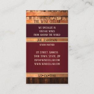 Carte De Visite Rustique Vendeur Vin