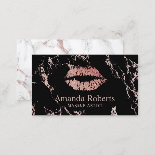 Carte De Visite Salon Marbre La Mode Lvres Roses