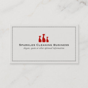 Carte De Visite Service Professionnel Nettoyage Chambre