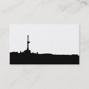 Carte De Visite Silhouette Plate Forme Forage