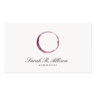 Carte de visite simple de Sommelier de tache de vi