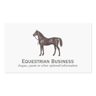 Carte de visite simple équestre de cheval de Brown
