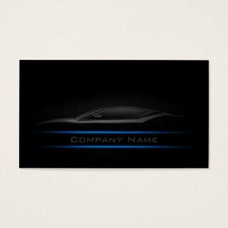 Carte de visite simple simple de voiture de Blue