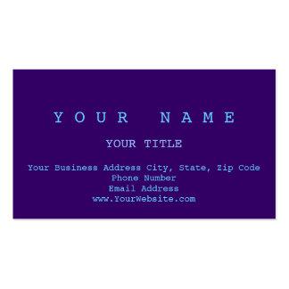 Carte de visite simple simple violet bleu minimal