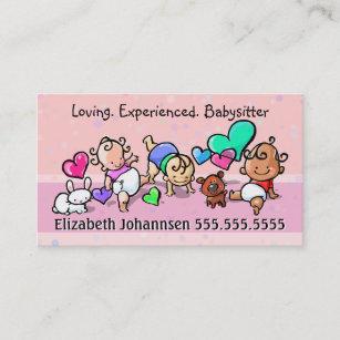 Carte De Visite Soin BabysittingChildcareDay Texte Couleur