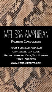 Carte De Visite Styliste Brown Consultant En Matire Mode