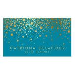 Carte de visite | Teal II de confettis de feuille