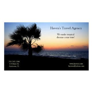 Carte de visite tropical