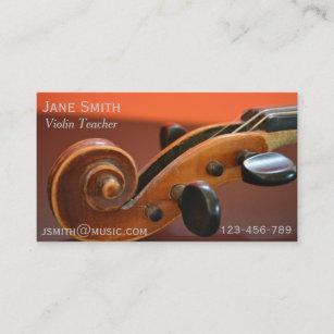 Cartes De Visite Tuteur Musique
