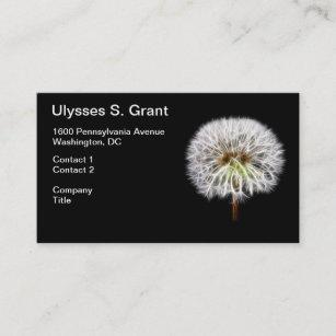 Carte De Visite Usine Blanche Fleur Pissenlit