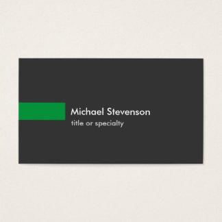 Carte de visite vert gris élégant de norme de