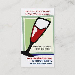 Carte De Visite Vin Rouge Dans Le Verre A Pour U Ou