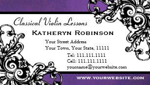 Cartes De Visite Violoniste