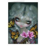 """Carte de voeux """"attirant papillons"""""""