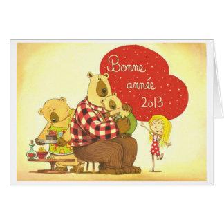 Carte de voeux Boucle d Or et les trois ours