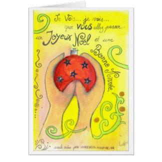 carte de voeux boule