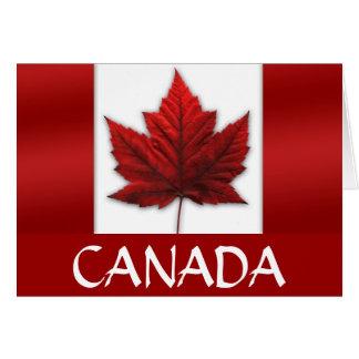 Carte de voeux canadienne de drapeau de carte de d