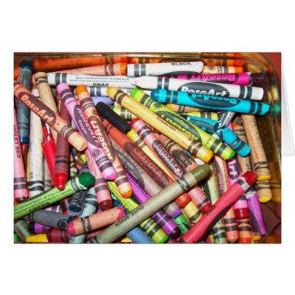 Carte de Voeux Crayons