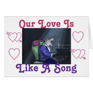 Carte de voeux de chanson d amour