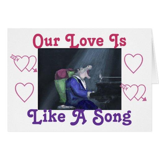 Carte de voeux de chanson d'amour