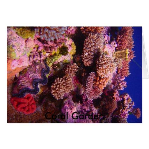 Carte de voeux de corail de jardin