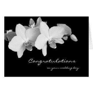 Carte de voeux de félicitations de mariage