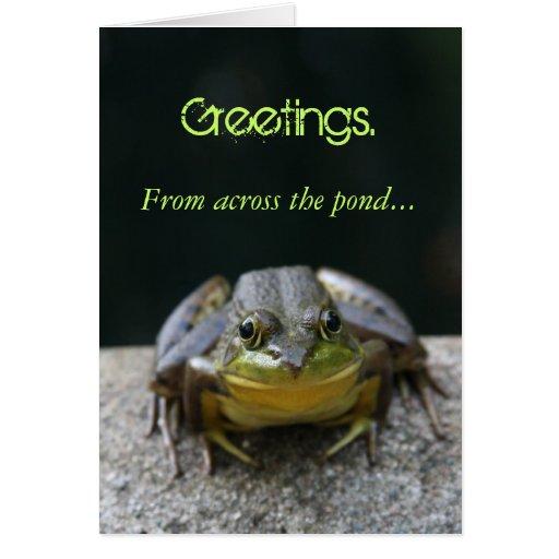 Carte de voeux de grenouille verte