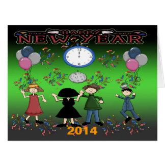Carte de voeux de la partie de nouvelle année
