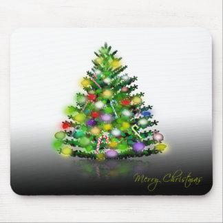 Carte de voeux de Noël d'arbre de Noël Tapis De Souris