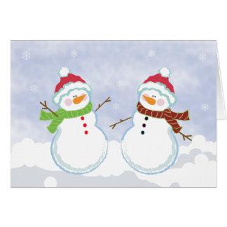 Carte de voeux de Noël d'hiver de vacances de