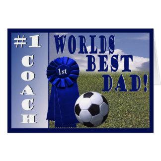 Carte de voeux de papa et d'entraîneur #1 des
