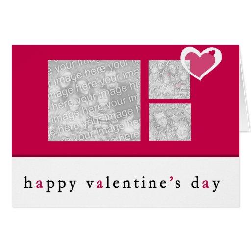 Carte de voeux de photo de jour de Valentines