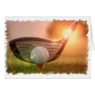 Carte de voeux de putter de golf