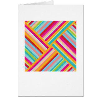 Carte de voeux de style bohème abstraite - rayures