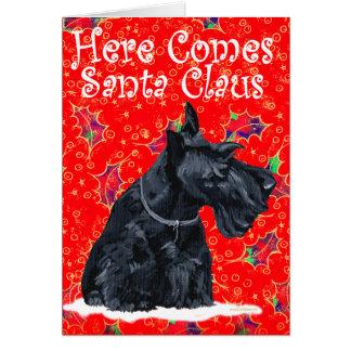 Carte de voeux de Terrier d écossais