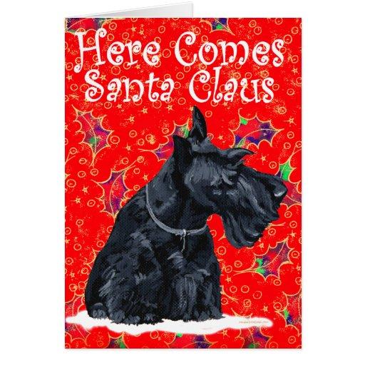 Carte de voeux de Terrier d'écossais