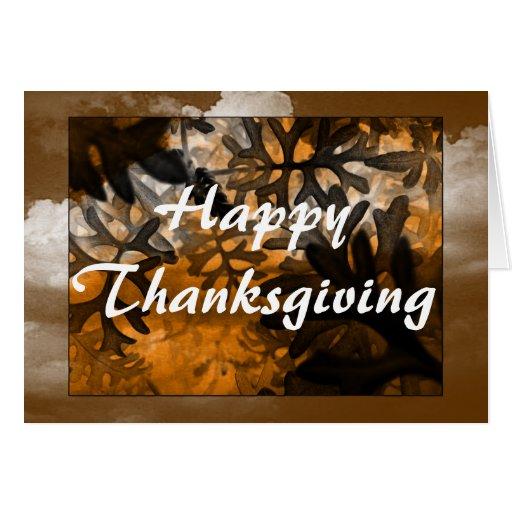 Carte de voeux de thanksgiving