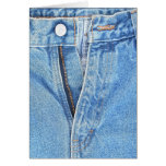 carte de voeux défaite la fermeture éclair de jean