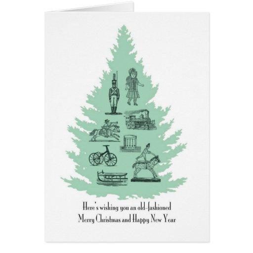 Carte de voeux démodée de Noël