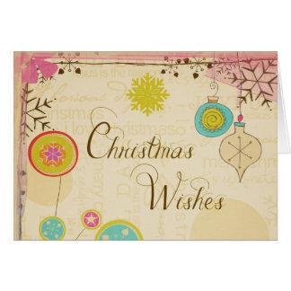 Carte de voeux démodée de Noël de typographie