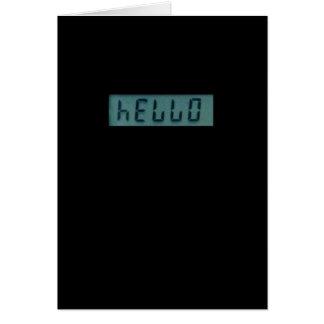 Carte de voeux électronique de message de bonjour