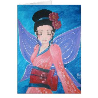 Carte de voeux - Fairy kimono