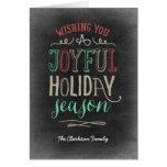 Carte de voeux joyeuse de vacances de saison