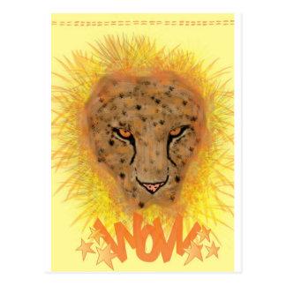 Carte de voeux léopard cartes postales