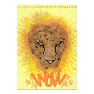 Carte de voeux léopard invitations